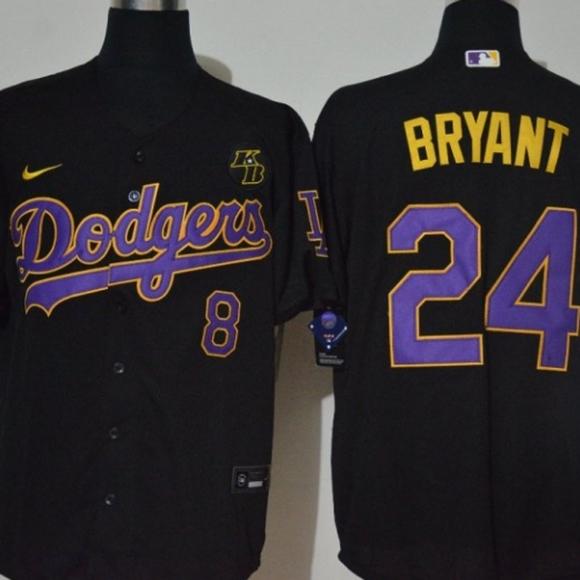 Kobe Bryant Black Mamba LA Dodgers Jersey sz XXL